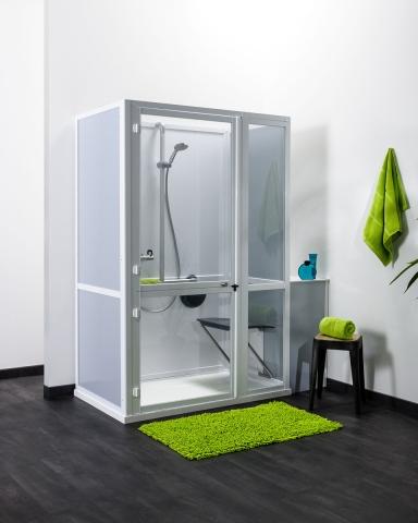 Cabine de douche pour personnes à mobilité réduite - IDHRA