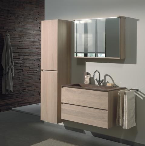 Meuble salle de bains en bois Chablis - OAK4U