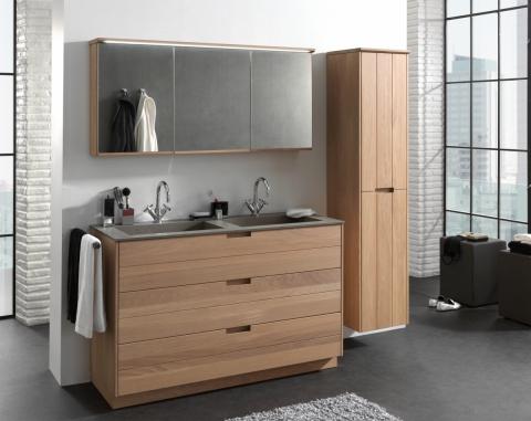 Meuble salle de bains en bois Margaux - OAK4U