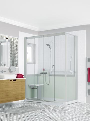 cabine de douche extra plate latest cabine de douche kineprime coulissant bas transparent. Black Bedroom Furniture Sets. Home Design Ideas
