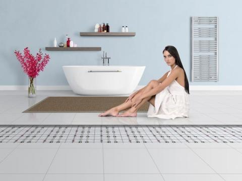 le chauffage par le sol une fa on conomique de chauffer ma maison induscabel salle de bains. Black Bedroom Furniture Sets. Home Design Ideas