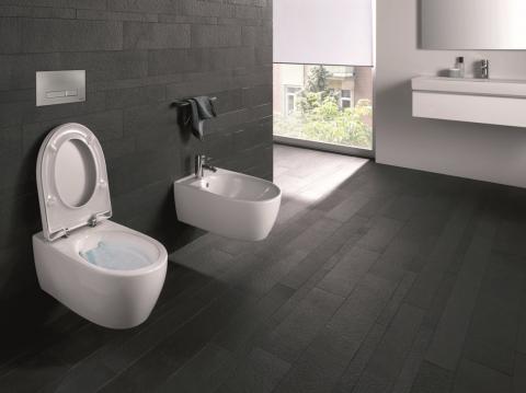 WC et bidet suspendus RimFree - KERAMAG