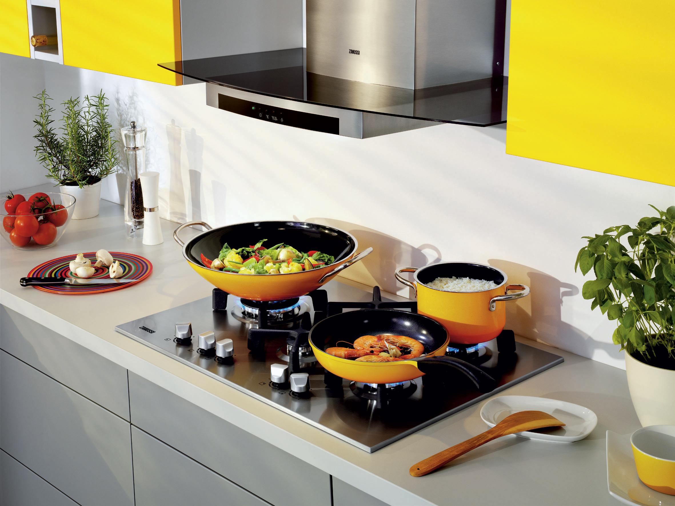 Table de cuisson au gaz et hotte Quadro de ZANUSSI